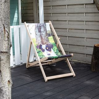 Personalised photo gift deckchair dog