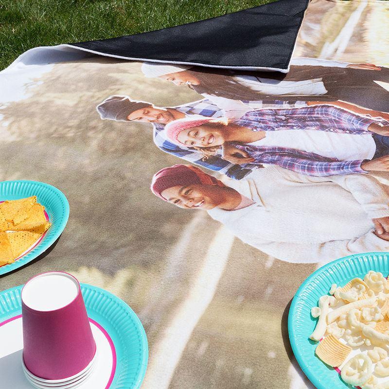 Manta para picnic personalizada manta camping con foto - Mantas con fotos ...