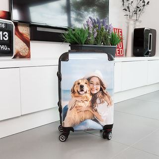printed suitcase dog photo image