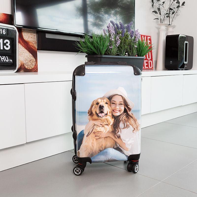Resväska med foto
