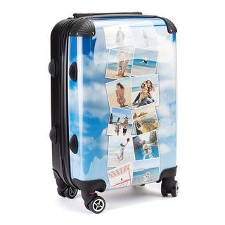 Travel montage printed personalise Suit case design