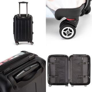 Multiple detail images of Printed Suitcase