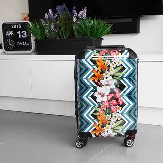 Printed Pattern design suitcase rolling
