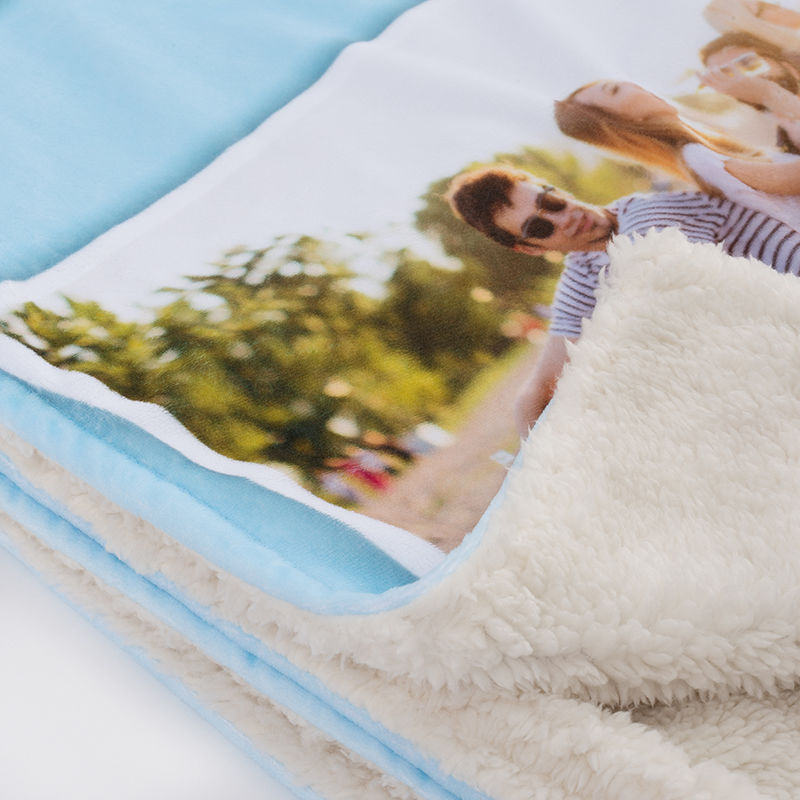 Personalised Faux Fur Throw Blanket