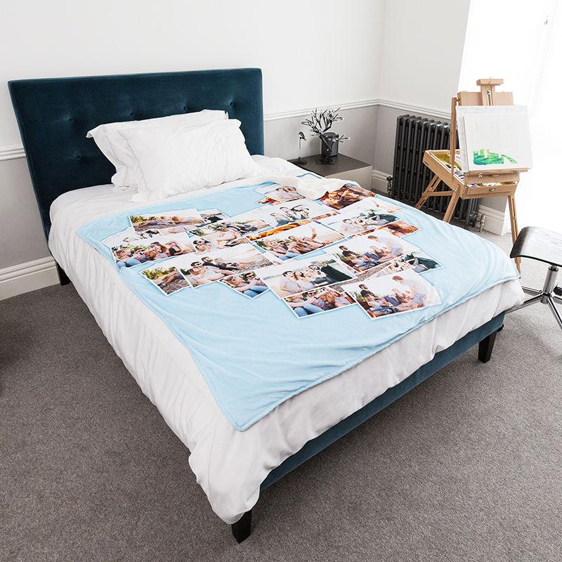kunstfell decke decke aus kunstfell mit fotos bedrucken. Black Bedroom Furniture Sets. Home Design Ideas