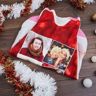 collage di foto su sacco a pelo per neonato