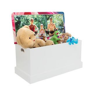 Personalised printed toy chest for children