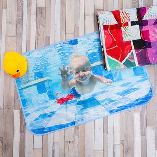 Baby changing mat customised hand swimming