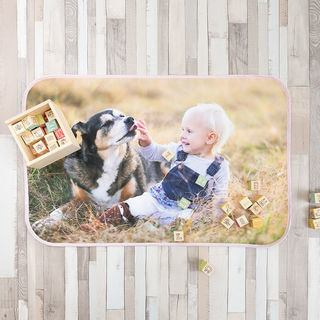 Dog photo unique printed changing mat