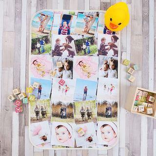 Baby Wickelunterlage mit Fotos