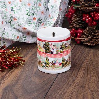 Christmas photo printed money pot design