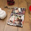Christmas photo montage waist apron
