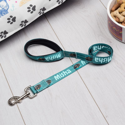 personalized name dog lead