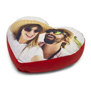 Young Couple photo heart cushion is special gift for him or her