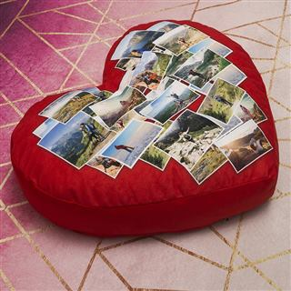 Photo Montage heart cushion create your own