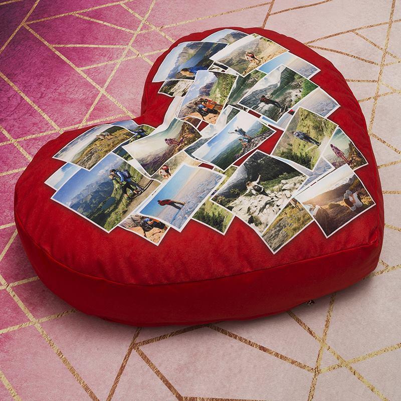 pouf cuore personalizzato