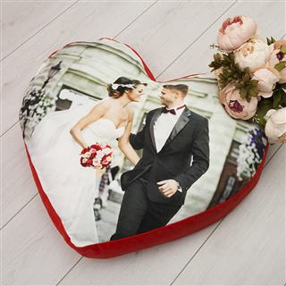 big heart pillow to celebrate anniversary or declaration of love