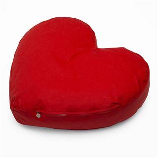 Red blank reverse side heart cushion