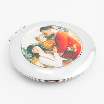compact mirror printed with photo