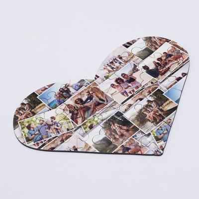 Puzzle Cuore Con Collage
