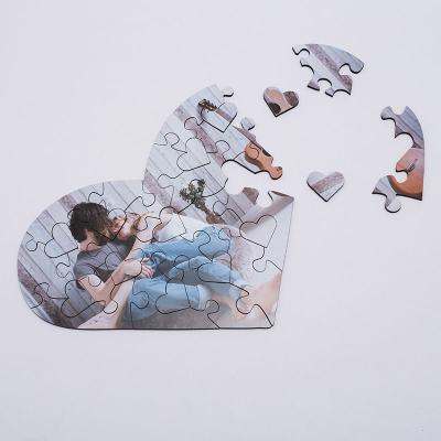 herz puzzle mit foto