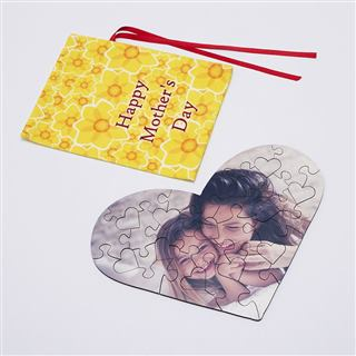 Mother's Day heart jigsaw puzzle with bag