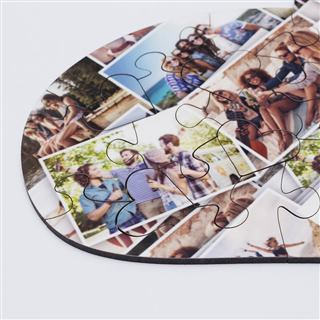 Montage printed Jigsaw puzzle of love print your own photos