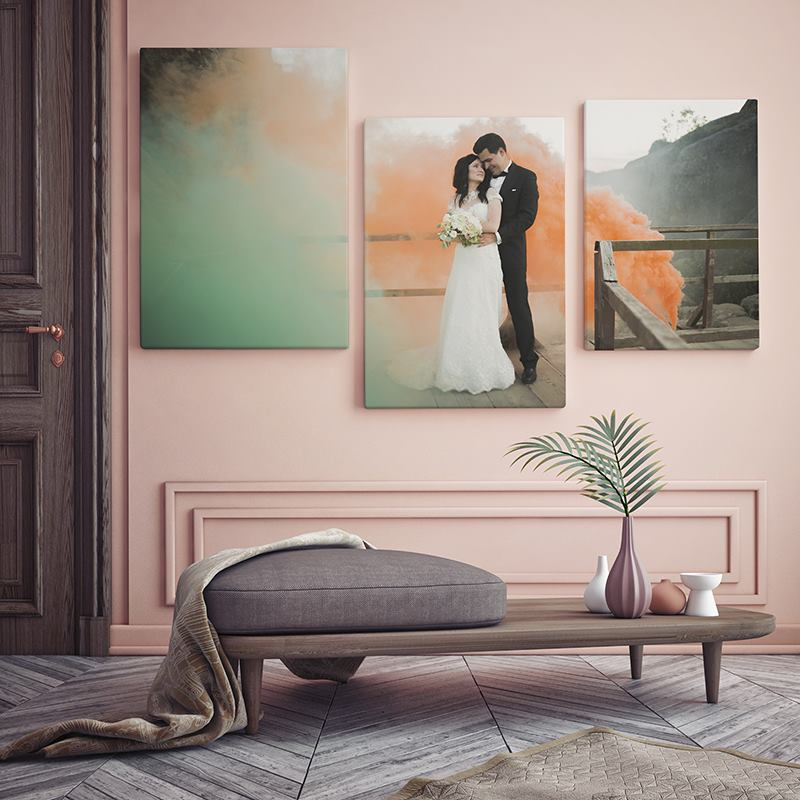 triptyque photo personnalis garantie vie. Black Bedroom Furniture Sets. Home Design Ideas
