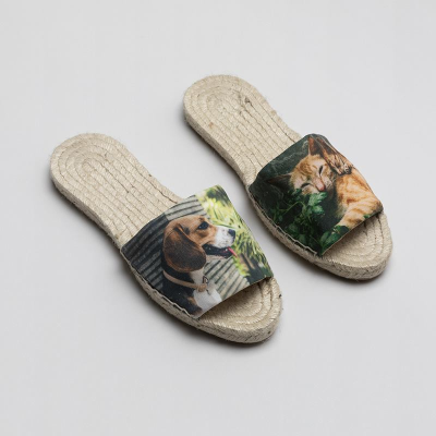 personalised espadrille slides