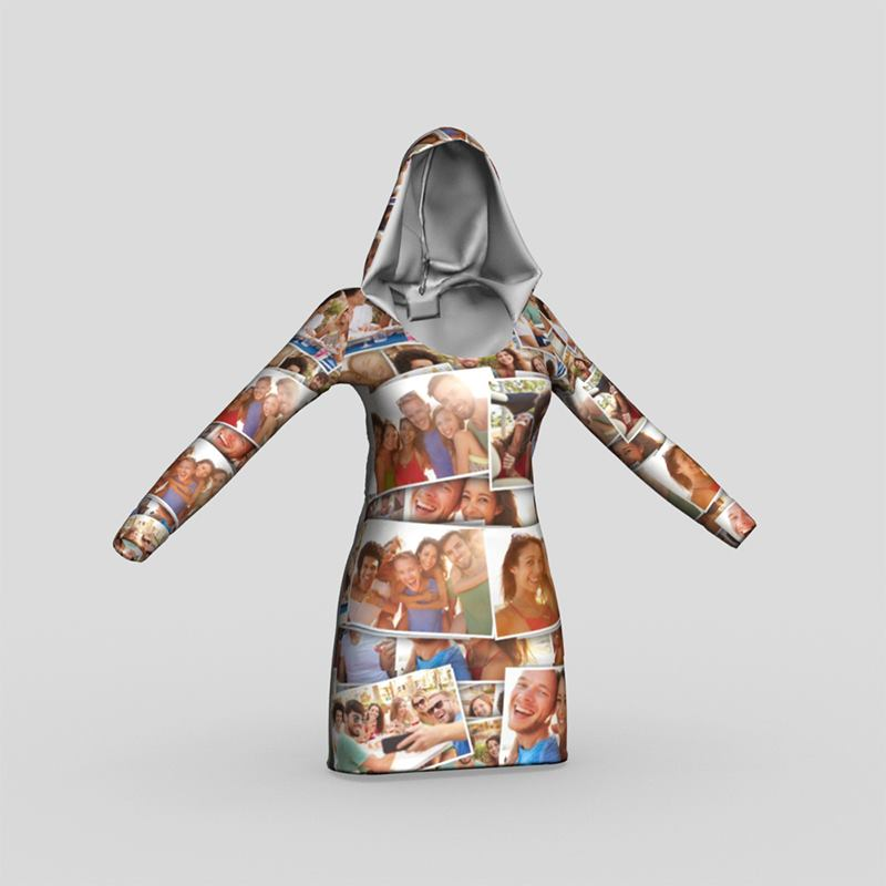 hoodie kleider bedrucken kapuzenkleid selbst gestalten. Black Bedroom Furniture Sets. Home Design Ideas