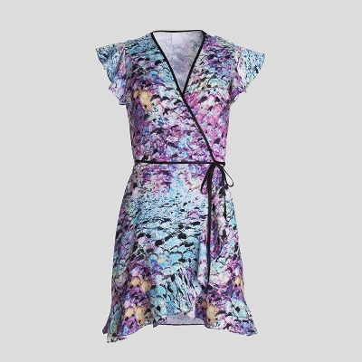 flounce tea dress