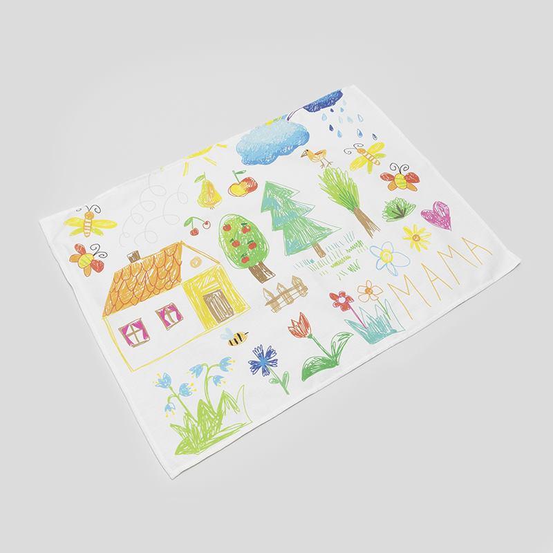 Tea Towels Printed For Schools: Tea Towel Printing For Schools. Personalised Tea Towels