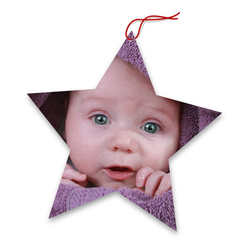 Personalised Christmas Tree Decorations. Photo Tree Topper