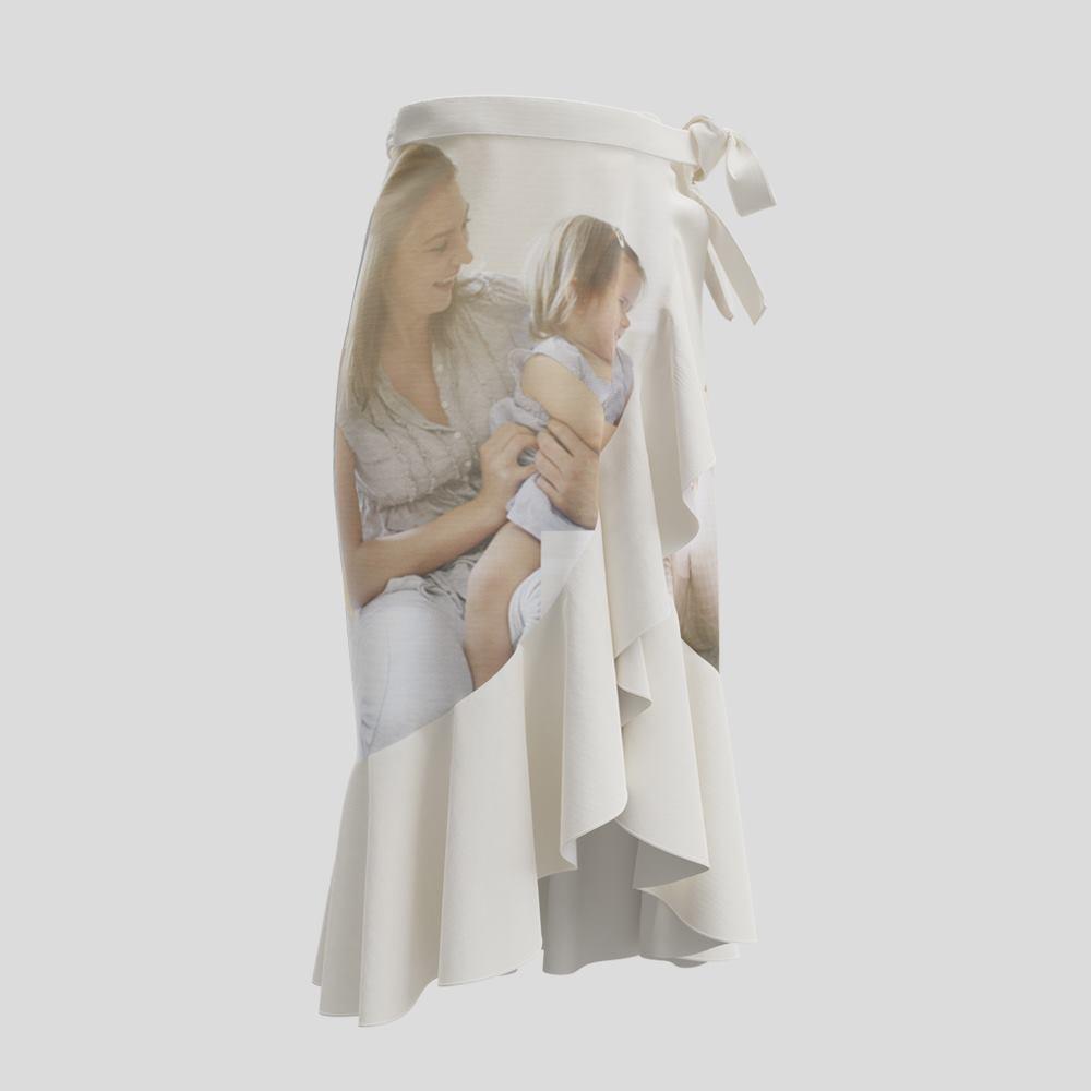 フラウンススカートをプリント印刷