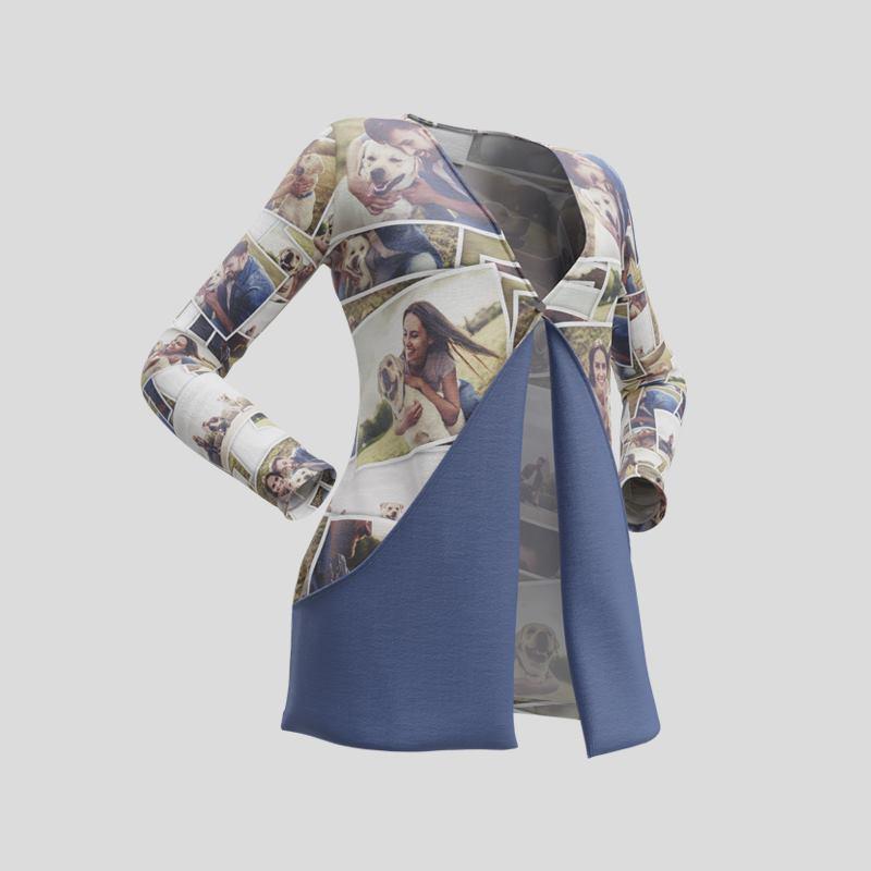 Strickjacke bedrucken | Kurze Strickjacke mit Taschen