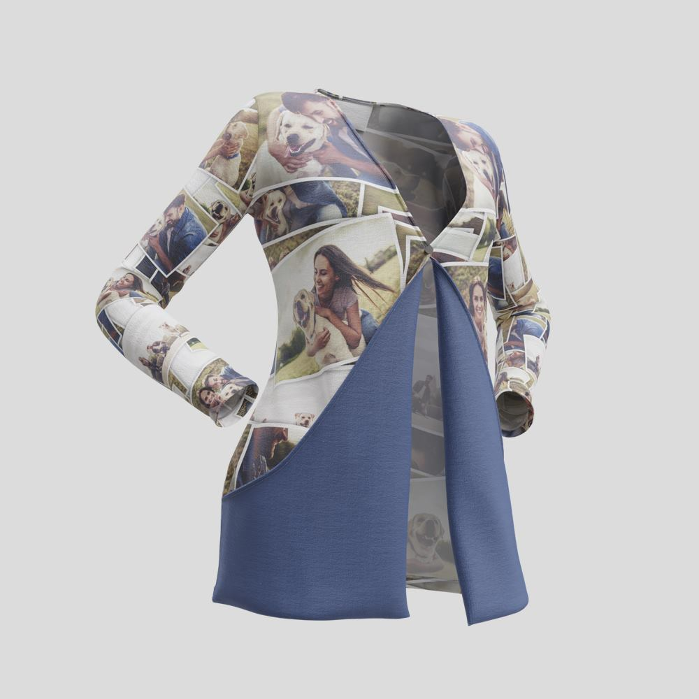 Cardigan personalizzato con tasche a goccia