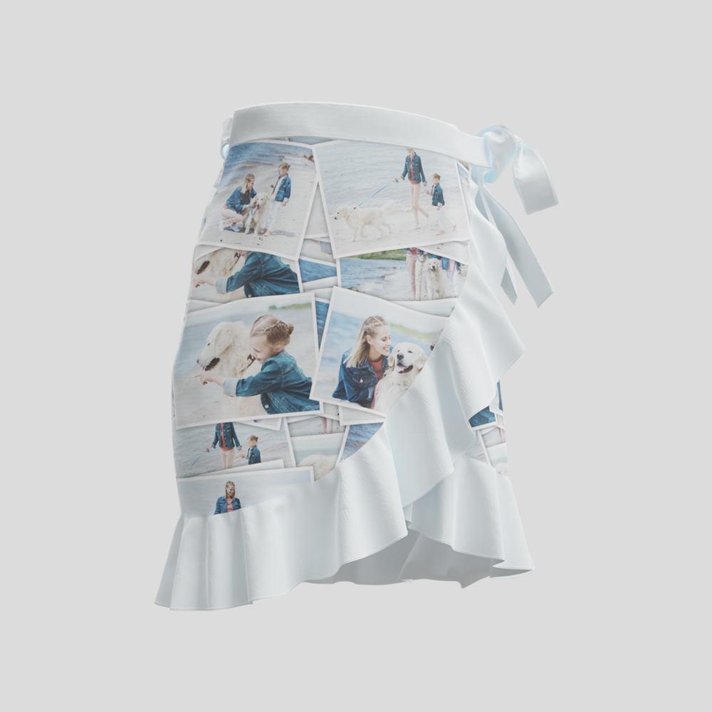 ショート丈ラップスカート