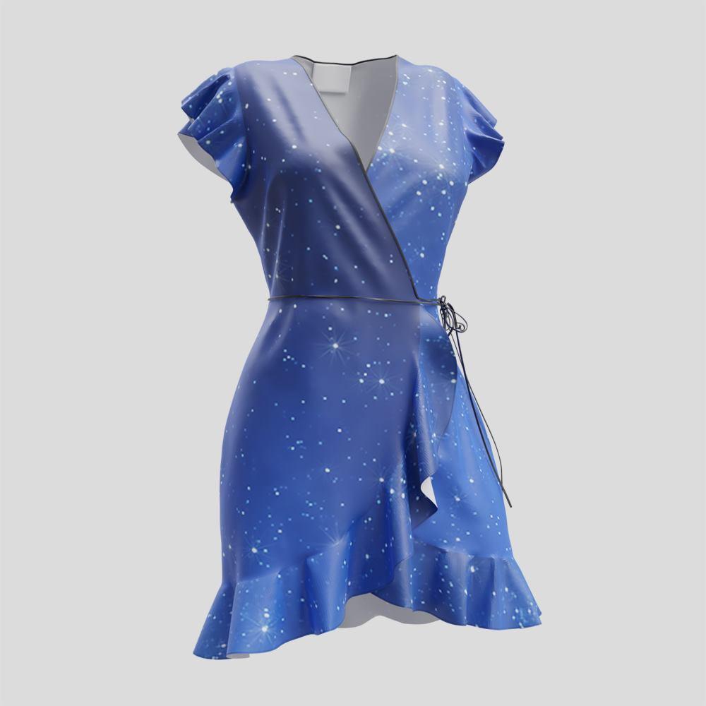 wrap tea dress