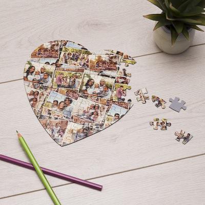 puzzle regalo con collage personalizado