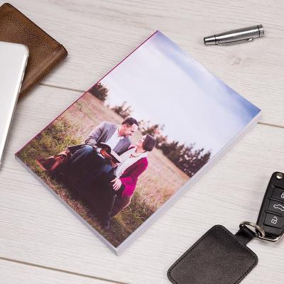 taschennotizbuch bedruckt mit eigenem foto zum ersten hochzeitstag