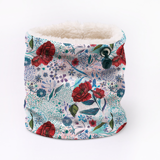 floral design for Fleece infinity scarf