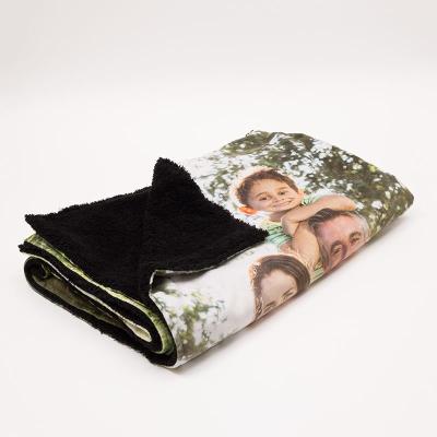 kuschelige und warme decke aus kunstfell bedruckt mit fotos