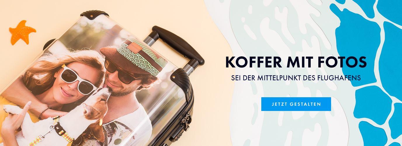 Koffer bedrucken lassen mit Fotos
