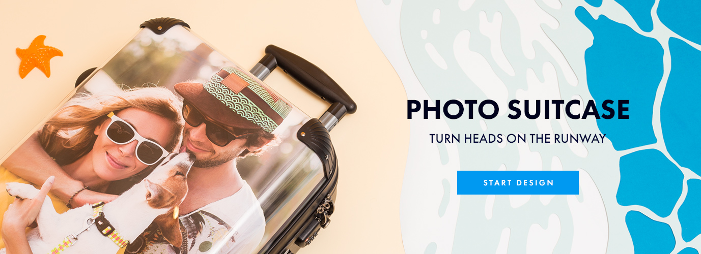 personalised suitcase printed with your photos