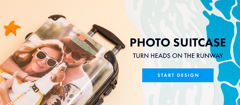 personalized suitcase printed with your photos