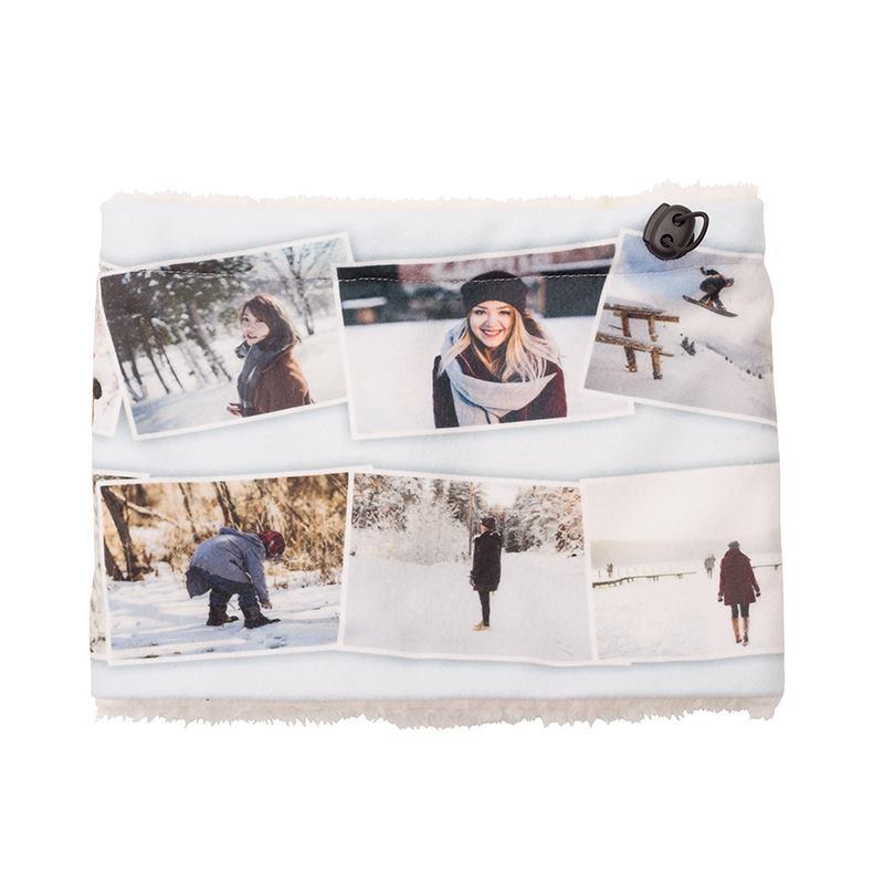 Fleece infinity scarf customized with photos