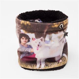 Dog photo printed Snood design