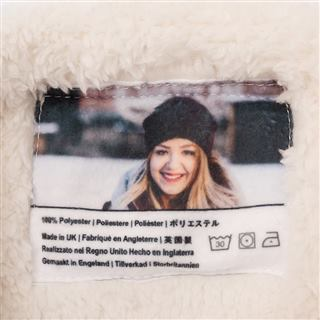 Sherpa snood fleece print your own label