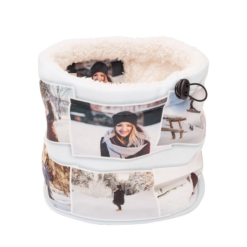 Sherpa Snood cream fleece photo montage