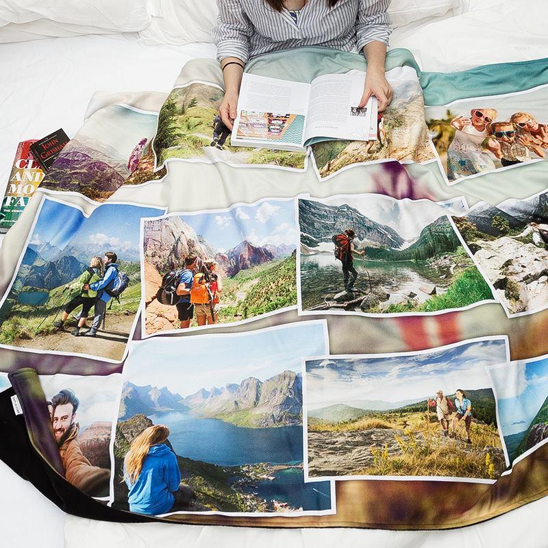 plaid personnalis cr er sa couverture polaire id e cadeau photo. Black Bedroom Furniture Sets. Home Design Ideas